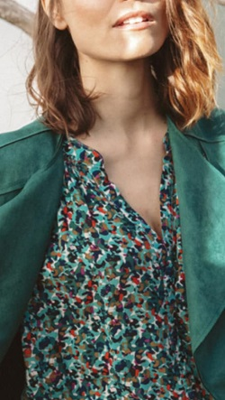 ct green blouse and jacket